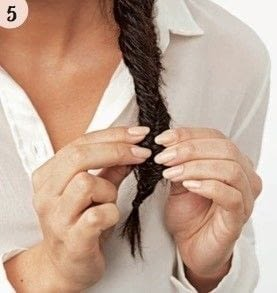 How to style a fishtail braid. Romantic Fishtail - Step 5
