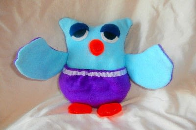 How to make a bird plushie. Mum And Baby Owl - Step 5