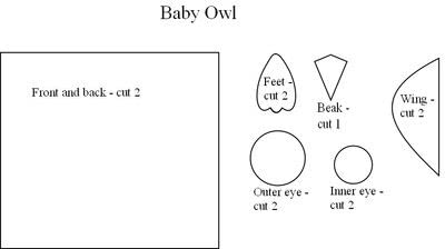 How to make a bird plushie. Mum And Baby Owl - Step 6