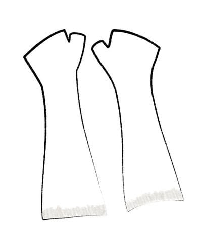 How to stitch a knit or crochet glove. Black Locust Mitts - Step 1