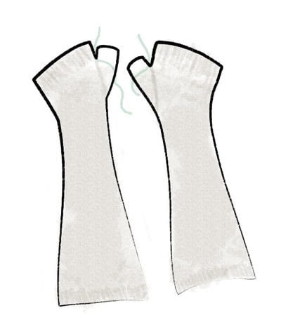 How to stitch a knit or crochet glove. Black Locust Mitts - Step 5