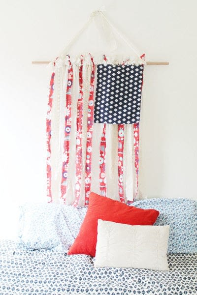 How to make a flag. Fabric American Flag  - Step 3