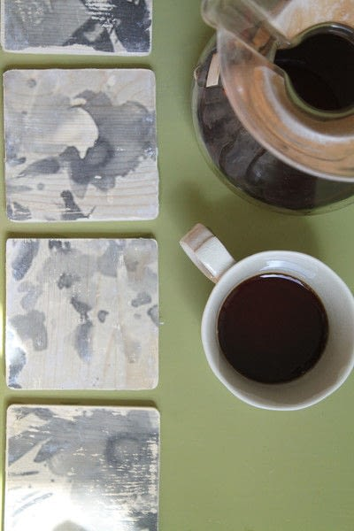 How to make a coaster. Black And White Floral Coasters  - Step 2
