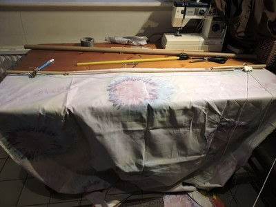 How to make a curtain/blinds. No Sew Rollup Blind - Step 8