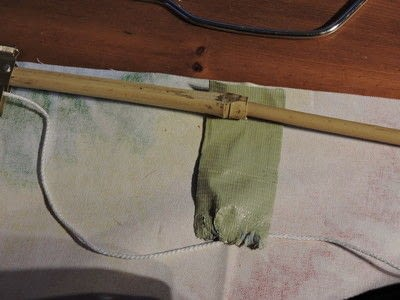 How to make a curtain/blinds. No Sew Rollup Blind - Step 9