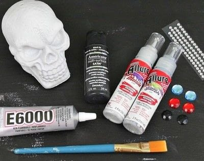 How to decorate a skull. Decorative Halloween Skulls - Step 2