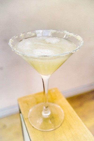 How to mix a flip cocktail. Frangipane Flip - Step 5