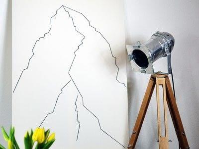 How to make string art. Geometric Wall Art - Step 9