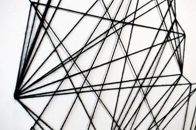 How to make string art. Geometric Wall Art - Step 11