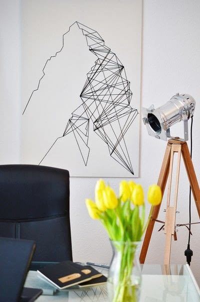How to make string art. Geometric Wall Art - Step 13