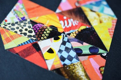 How to make a paper book cover. Notebook Cover: Fashion Magazine Collage - Step 8