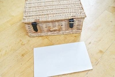 How to make an outdoor accessory. Picnic Basket - Step 1