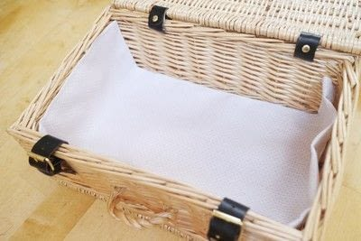 How to make an outdoor accessory. Picnic Basket - Step 6