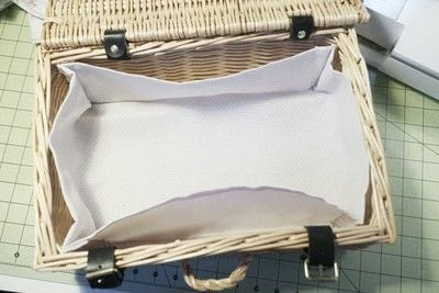 How to make an outdoor accessory. Picnic Basket - Step 9