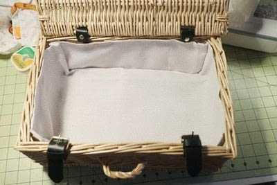 How to make an outdoor accessory. Picnic Basket - Step 11