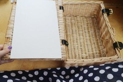 How to make an outdoor accessory. Picnic Basket - Step 12