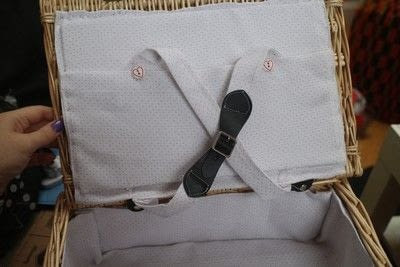 How to make an outdoor accessory. Picnic Basket - Step 33
