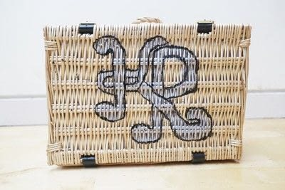 How to make an outdoor accessory. Picnic Basket - Step 45