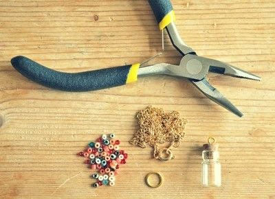 How to make a vial. Bead Bottle Necklace - Step 1