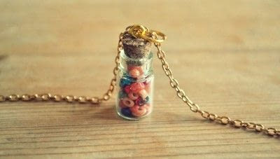 How to make a vial. Bead Bottle Necklace - Step 3