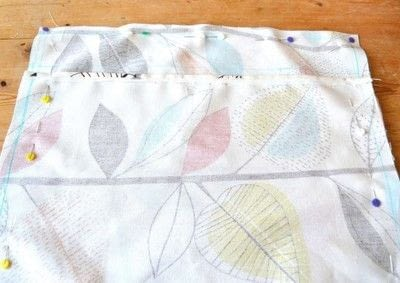 How to make a cushion. Envelope Cushion - Step 3