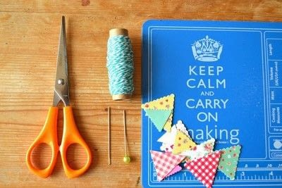 How to make bunting. Card Bunting - Step 1