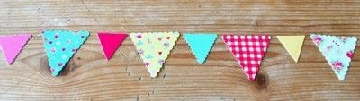 How to make bunting. Card Bunting - Step 2