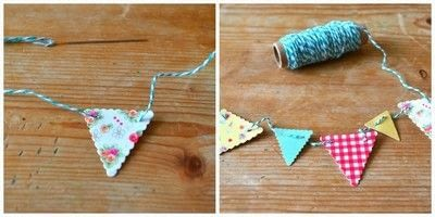 How to make bunting. Card Bunting - Step 4