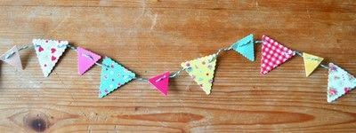 How to make bunting. Card Bunting - Step 5