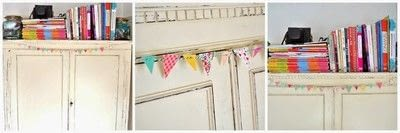 How to make bunting. Card Bunting - Step 6