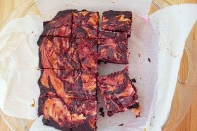 How to bake a brownie. Red Velvet Cream Cheese Brownies - Step 3