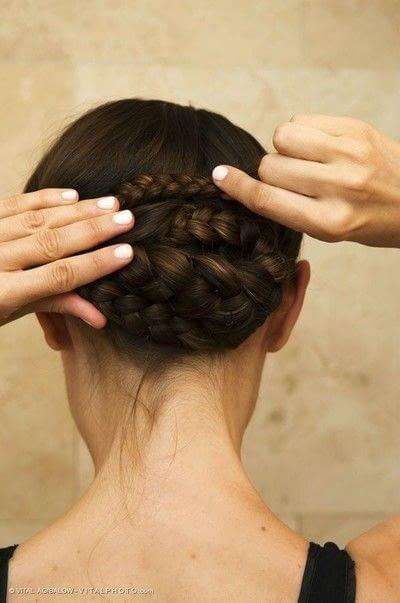 How to style a braided bun. Braided Low Bun - Step 4