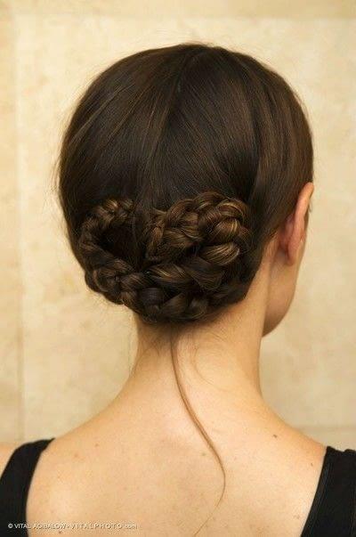 How to style a braided bun. Braided Low Bun - Step 5