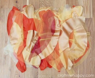How to make a tutu. Autumnal Cascading Tutu - Step 3