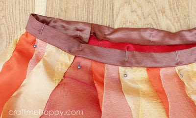 How to make a tutu. Autumnal Cascading Tutu - Step 13