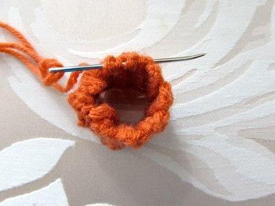 How to make a pumpkin plushie. Crochet Jack O' Lantern - Step 3