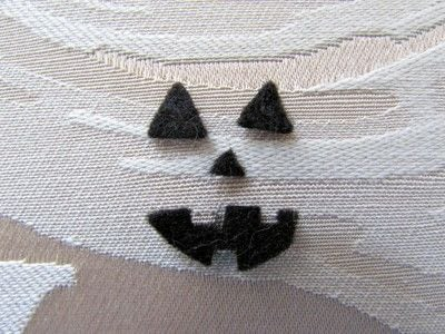 How to make a pumpkin plushie. Crochet Jack O' Lantern - Step 9