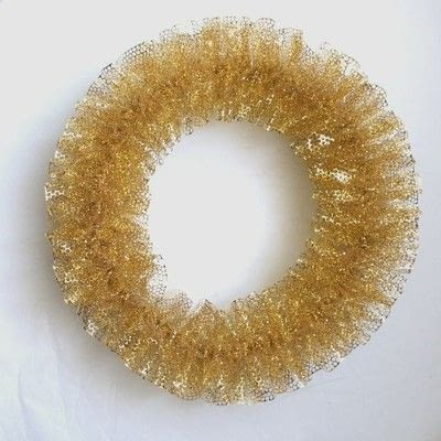 How to make a fabric wreath. Punchenello Wreath (Honey Comb Wreath) - Step 11