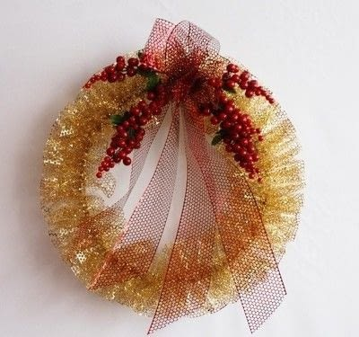 How to make a fabric wreath. Punchenello Wreath (Honey Comb Wreath) - Step 12
