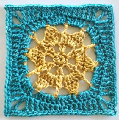 How to crochet a granny square cushion. Bask Cushion Cover Using Indie Yarn Store Superwash Merino Yarn - Step 7