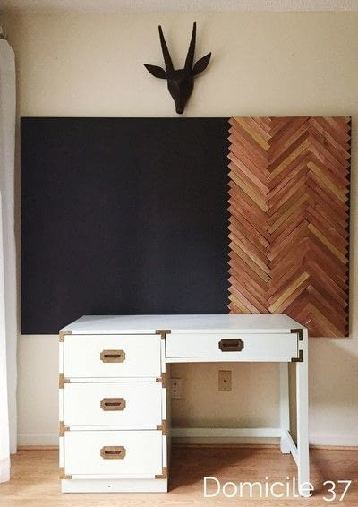 How to make a hanging. Create A Large Wall Art Using The Herringbone Pattern - Step 7