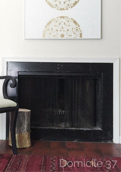 How to make a fireplace. Diy Faux Marble Fireplace - Step 1