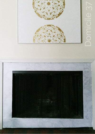 How to make a fireplace. Diy Faux Marble Fireplace - Step 4