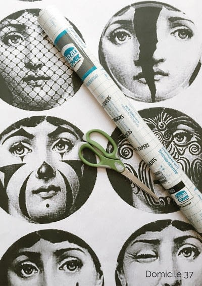 How to make wallpaper / a wall painting. Diy Fornasetti Wallpaper - Step 1