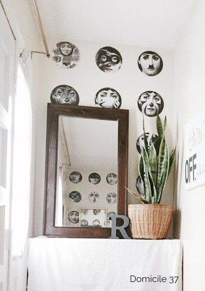 How to make wallpaper / a wall painting. Diy Fornasetti Wallpaper - Step 3