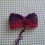 How to make a butterfly plushie. Knitted Butterfly - Step 4
