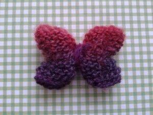 How to make a butterfly plushie. Knitted Butterfly - Step 7