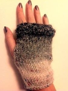How to make mittens. Nice And Easy Fingerless Mittens - Step 17