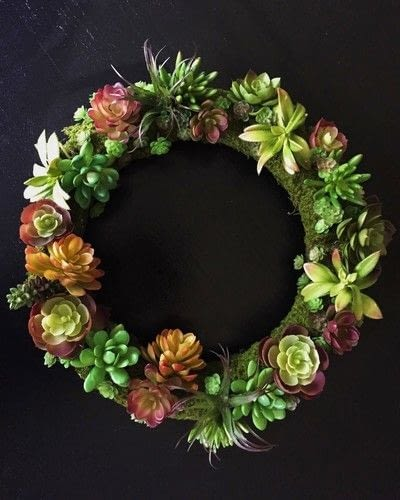 How to make a wreath. Diy Succulent Wreath - Step 2