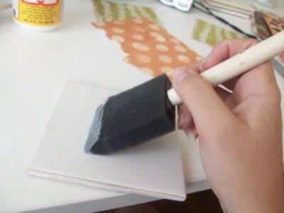 How to make a tile coaster. Diy Patterned Tile Coasters - Step 2